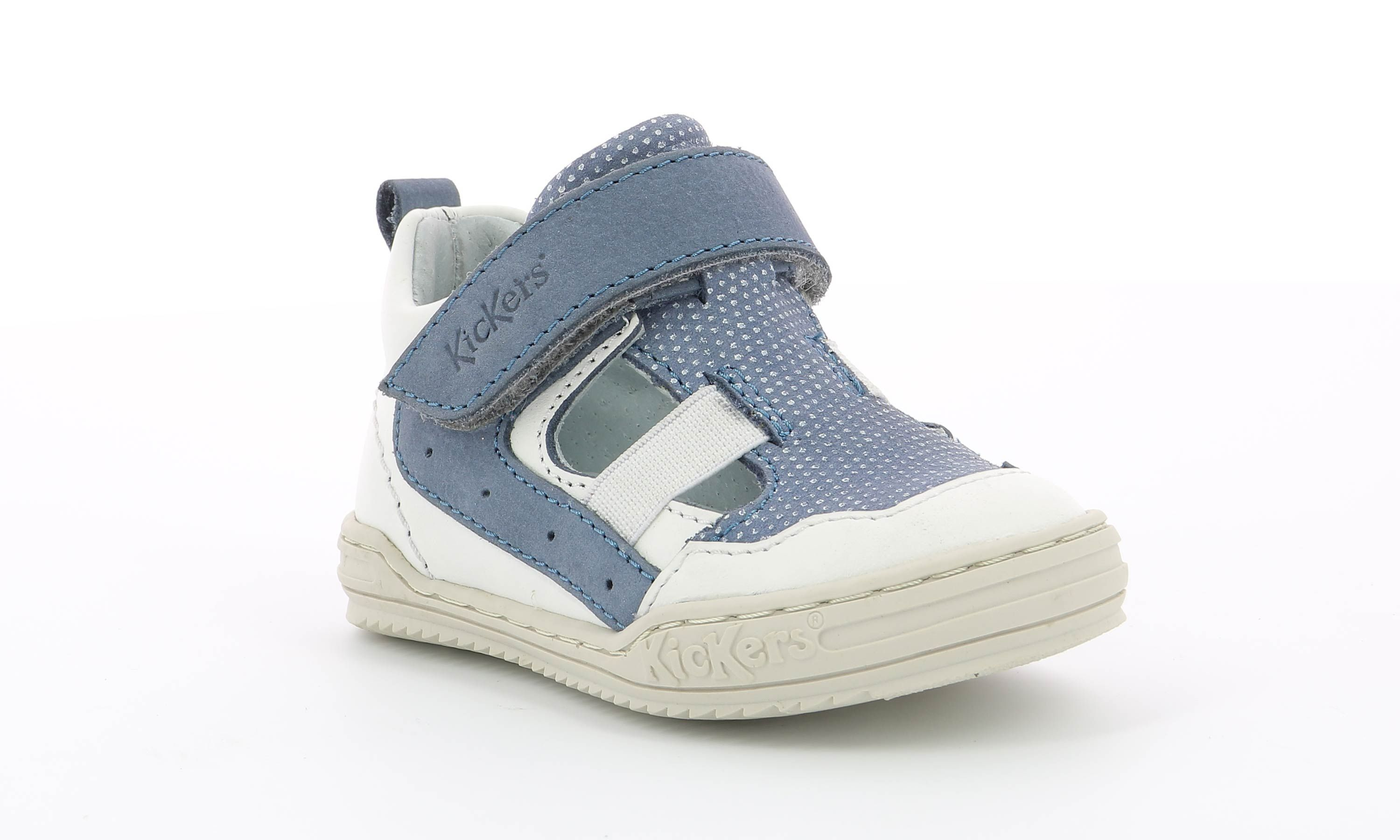 Chaussures Kickers JASON BLANC BLEU Kids and co