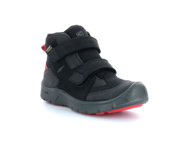 HIKEPORT MID ST BLACK   BRIGHT RED
