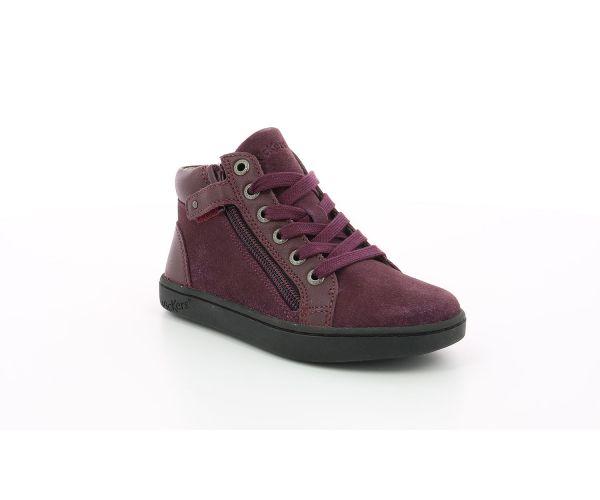 Kickers KickersCo Sneakers Hautes violet Lyluby Fille 8mNwPyvn0O