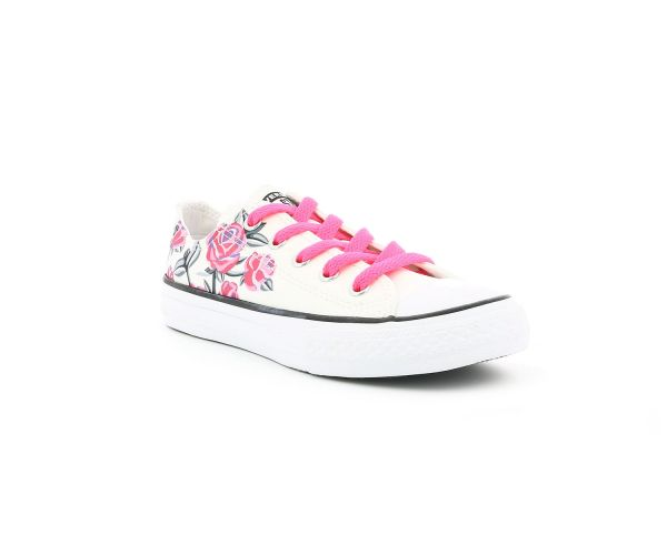 CHUCK TAYLOR ALL STAR OX EV BLANC FLOWERS