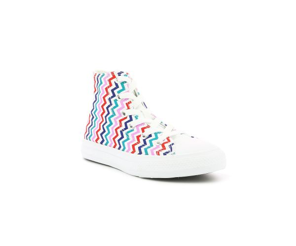 CHUCK TAYLOR ALL STAR HI EV BLANC MULTICOLOR