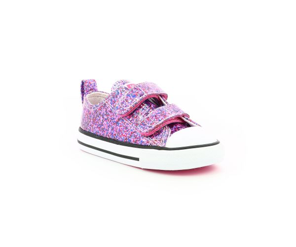 CHUCK TAYLOR ALL STAR OX 2V ROSE GLITTER MULTICOLOR