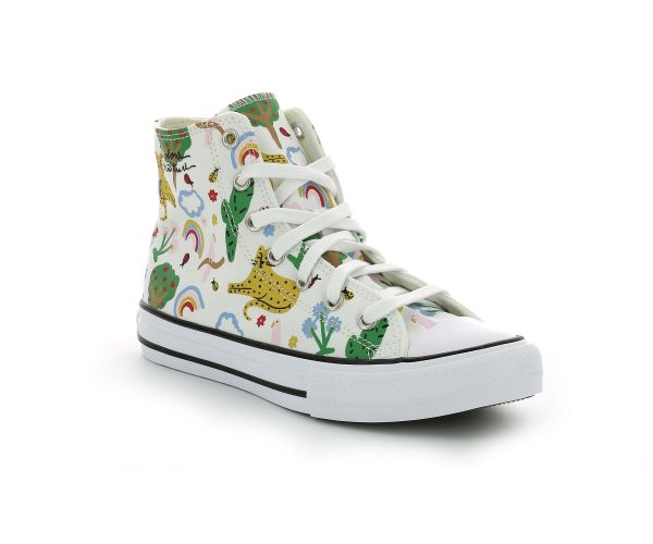 CHUCK TAYLOR ALL STAR HI EV BLANC IMPRIME NATURE