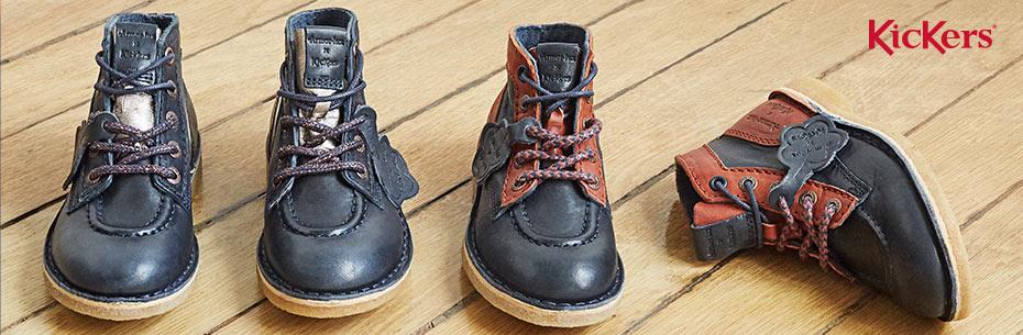 Les chaussons pour enfants de la marque Kickers