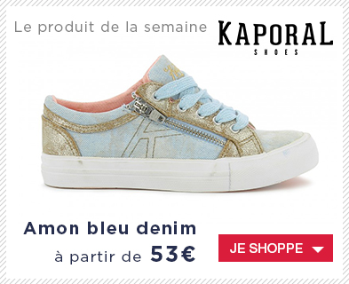 Baskets Kaporal fille Amon bleu denim