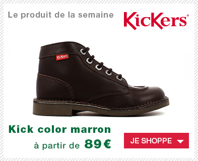chaussures Kickers garçon Kick color marron