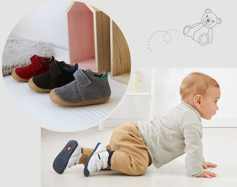 Chaussures à lacets pour bébé 4 pattes de marques Kickers