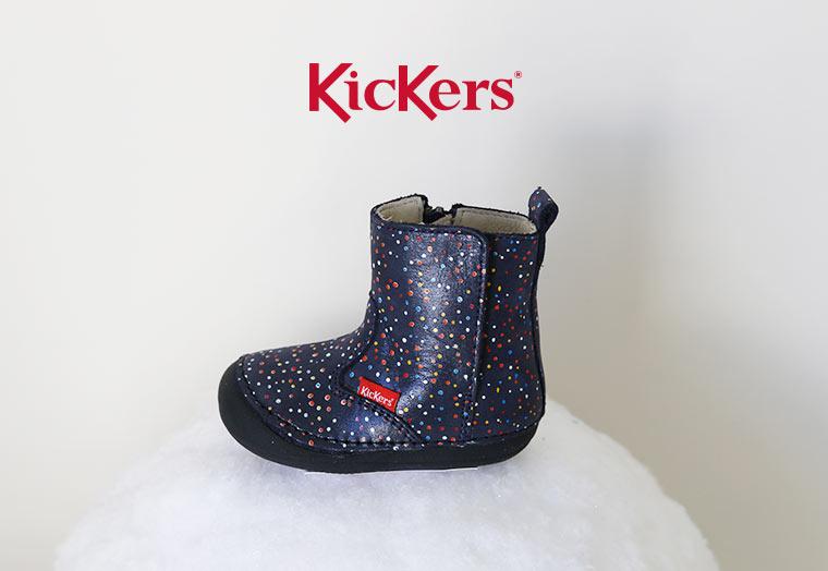 Chaussures de la marque Kickers à zip pour bébé 4 pattes