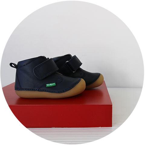 Chaussures à scratch pour bébé 4 pattes de marques Kickers